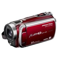 Praktica DVC 5.6 FHD HD Camcorder rot