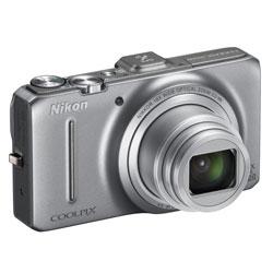 Nikon Coolpix S9300 Silber Super-Zoom-Kamera