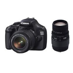 Canon EOS1100D EF-S18-55 IS II + Sigma 70-300 DG