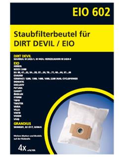 EIO 602 Staubfilterbeutel Staubsaugerbeutel