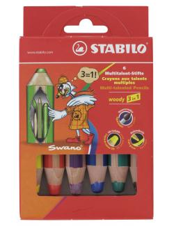 Stabilo Woody 3in1 Farbstift 6er Etui 653698
