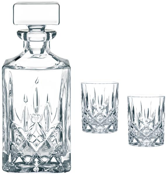 nachtmann 3 tlg set dekanter whiskey gl ser noblesse kristall ebay. Black Bedroom Furniture Sets. Home Design Ideas
