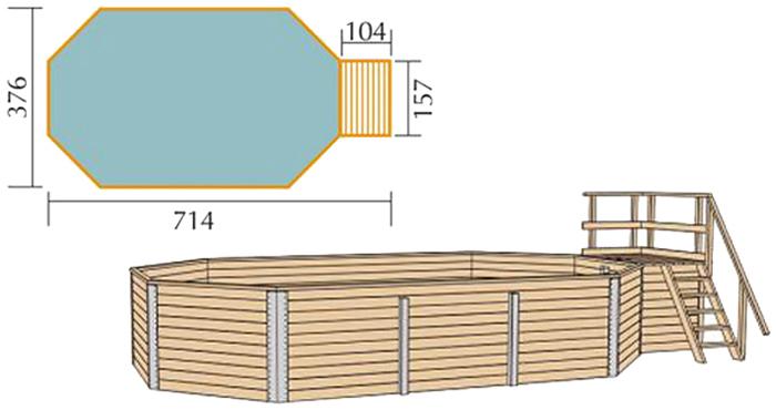 Weka korfu 1 sparset gartenpool 376 x 714 inkl for Einbau gartenpool