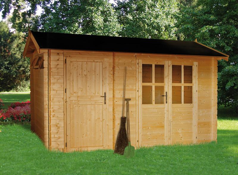 outdoor life blockbohlenhaus bachstelze gartenhaus ebay. Black Bedroom Furniture Sets. Home Design Ideas