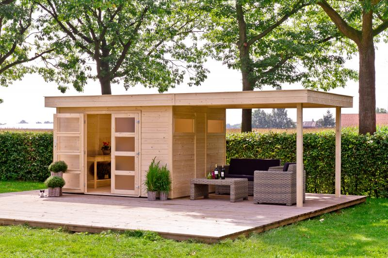 outdoor life zaunk nig 3 gartenhaus blockhaus ebay. Black Bedroom Furniture Sets. Home Design Ideas