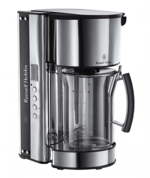 russell hobbs 19650 56 black glass kaffeemaschine ebay. Black Bedroom Furniture Sets. Home Design Ideas