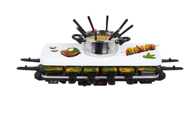 rtc hcrccf012 raclette raclette und fondie in einem f r 12 personen ebay. Black Bedroom Furniture Sets. Home Design Ideas