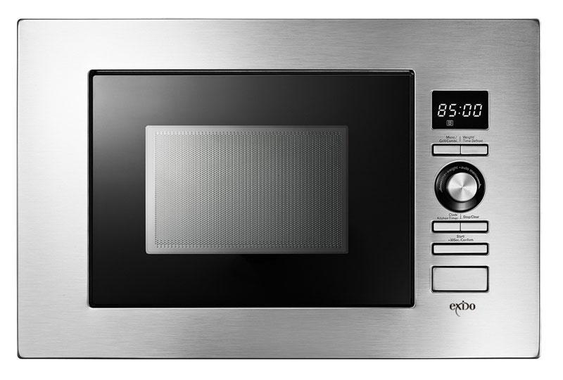 exido einbau mikrowelle mit grill 12330035 20 liter 800. Black Bedroom Furniture Sets. Home Design Ideas
