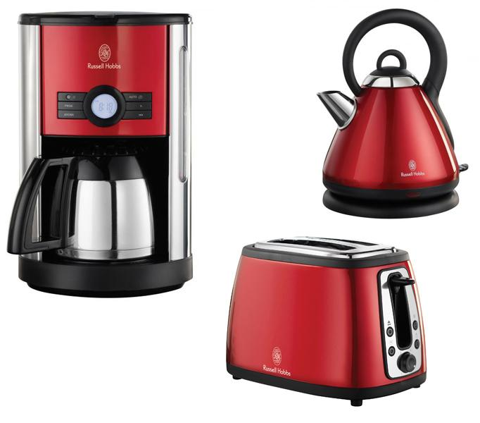 russell hobbs cottage set kaffeemaschine toaster wasserkocher neu ebay. Black Bedroom Furniture Sets. Home Design Ideas