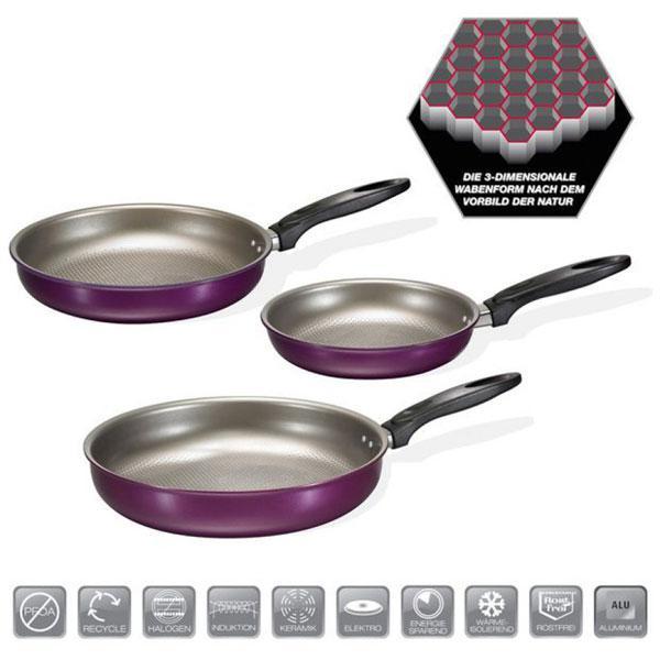 3-tlg-Bratpfannen-Set-Beem-Inducto-Platinum-Violett-Induktionsgeeignet