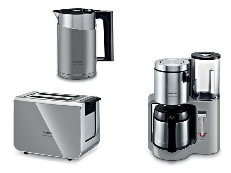 siemens fr hst cks set grau wasserkocher kaffeemaschine toaster ebay. Black Bedroom Furniture Sets. Home Design Ideas