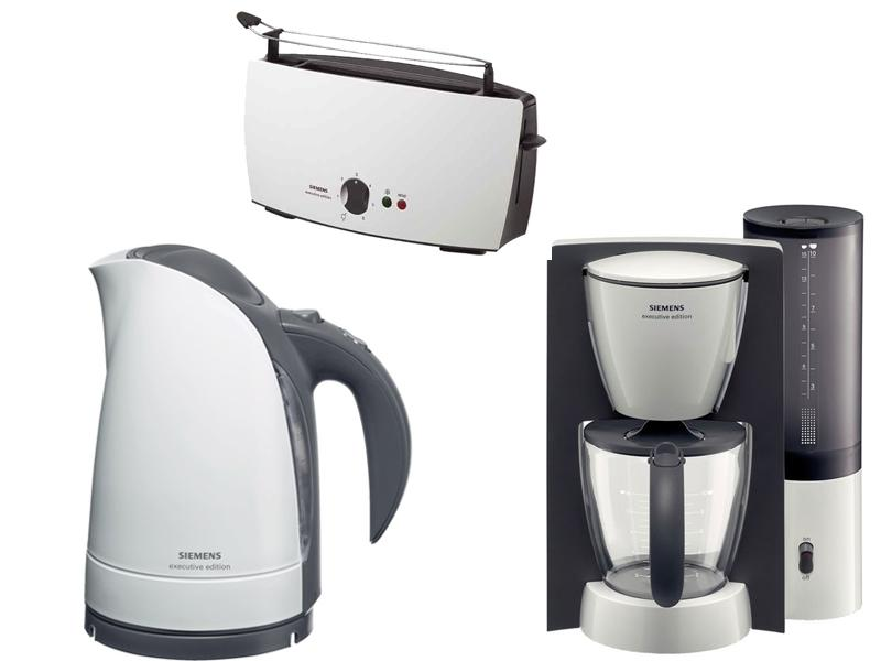 siemens fr hst cks set wei wasserkocher kaffeemaschine toaster ebay. Black Bedroom Furniture Sets. Home Design Ideas