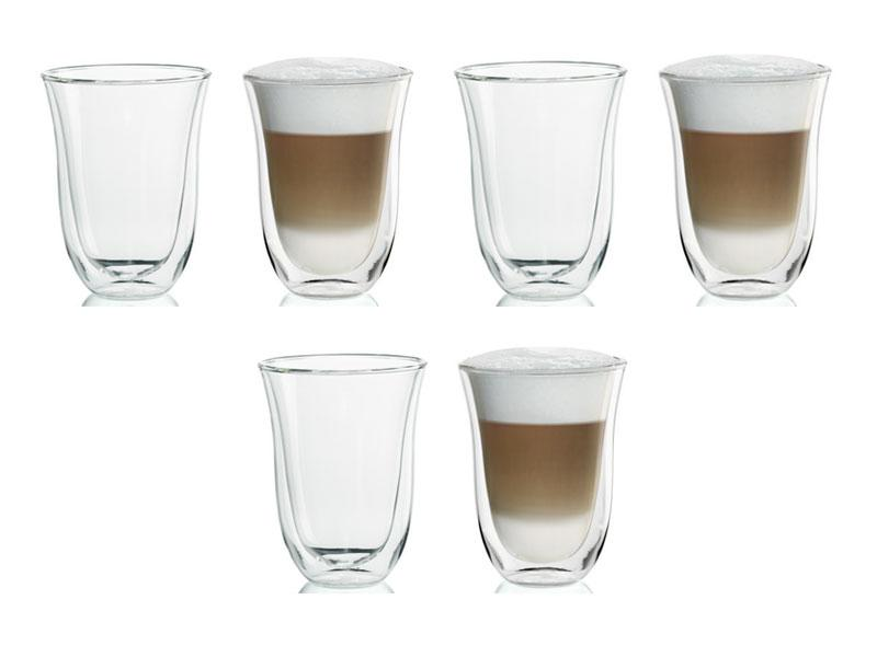 delonghi latte macchiato gl ser thermoglass 6er set ebay. Black Bedroom Furniture Sets. Home Design Ideas