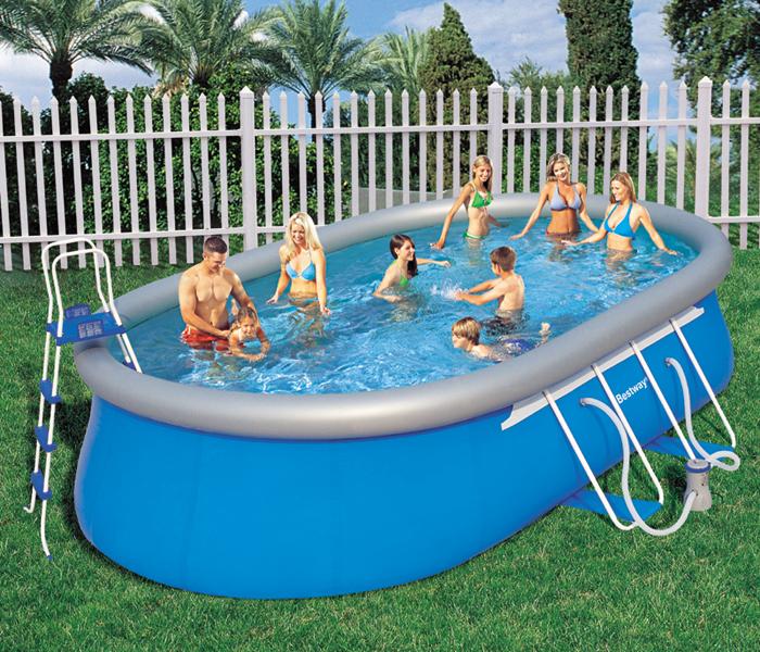 bestway oval pool set 610cm 56119gs ebay. Black Bedroom Furniture Sets. Home Design Ideas