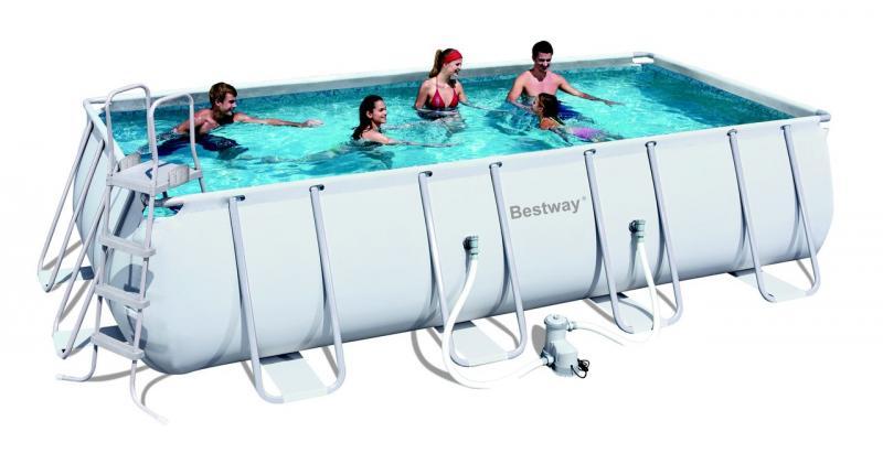 bestway frame pool stahlrahmbecken 549x274x122 cm rechteckig ebay. Black Bedroom Furniture Sets. Home Design Ideas