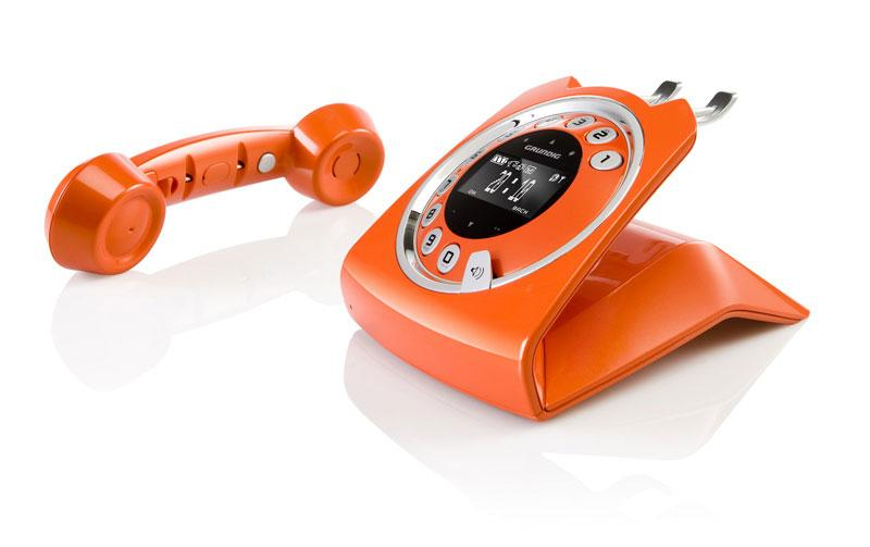 grundig schnurloses telefon mit anrufbeantworter sixty orange ebay. Black Bedroom Furniture Sets. Home Design Ideas