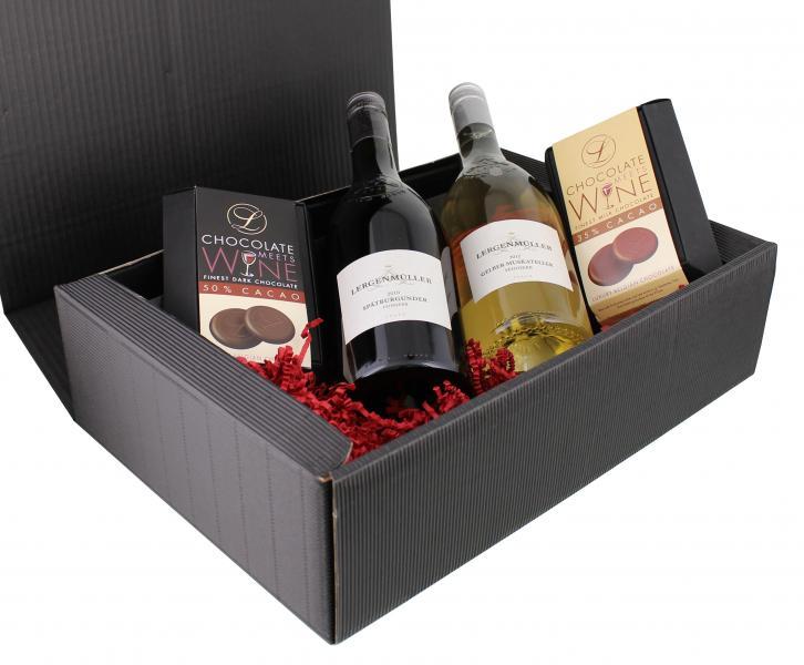 Präsentkorb Chocolate meets Wine [belgische Schokolade на eBay